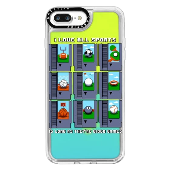 iPhone 7 Plus Cases - Soft I Love All Sports