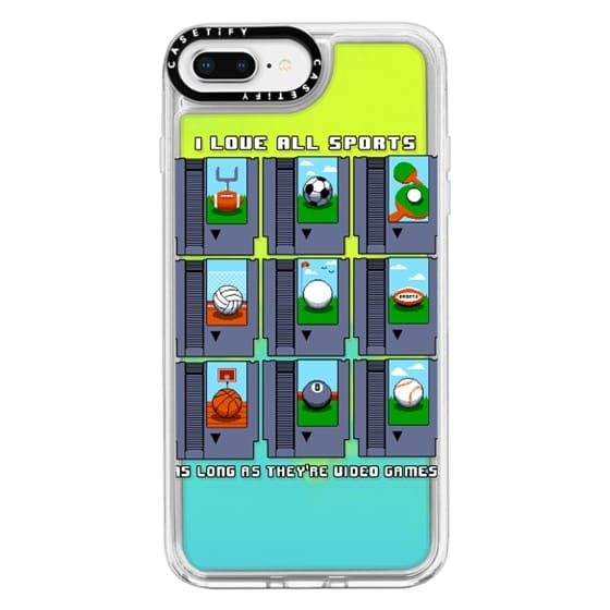 iPhone 8 Plus Cases - Soft I Love All Sports
