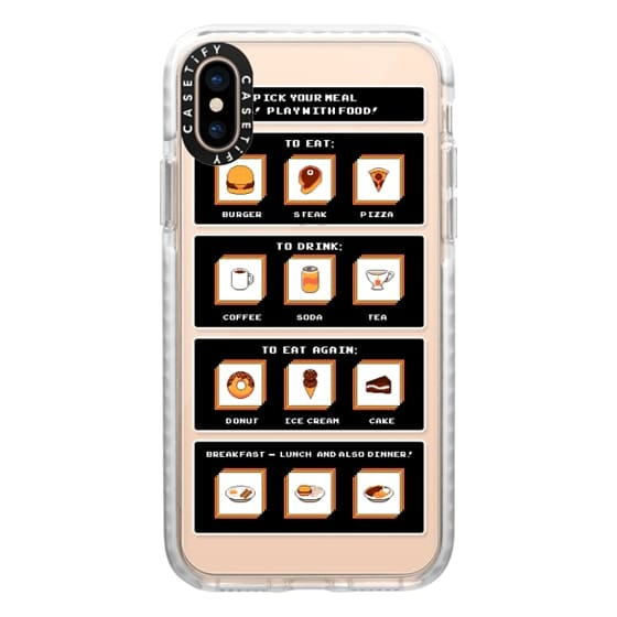 iPhone XS Cases - Soft Picking Food