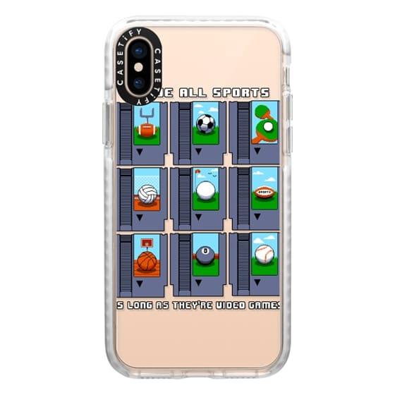 iPhone XS Cases - Soft I Love All Sports