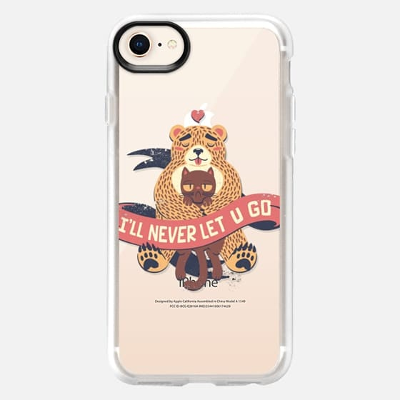Soft Ill Never Let You Go Bear Love Cat - Snap Case