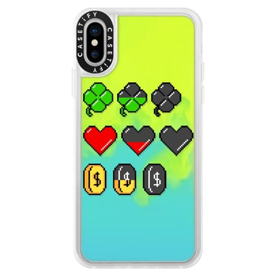 iPhone X Cases - Soft Video Game Stats