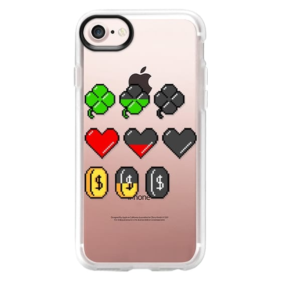 iPhone 7 Cases - Soft Video Game Stats