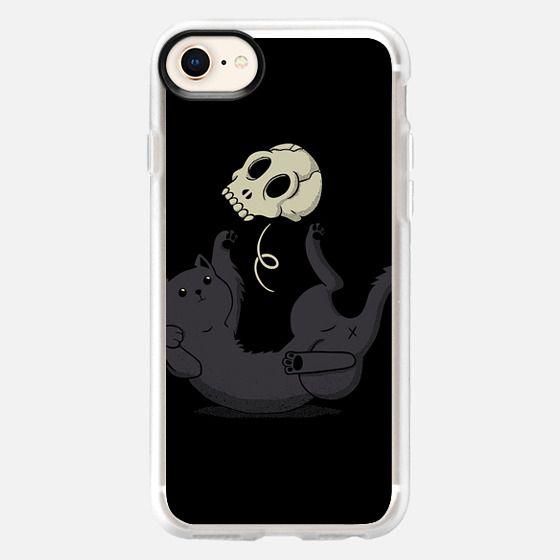 Skull Black Cat - Snap Case