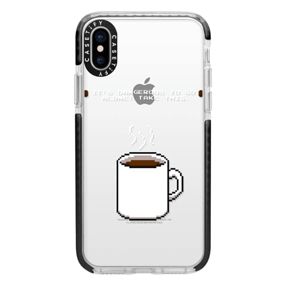 iPhone X Cases - Soft Its dangerous to go alone Take this coffee