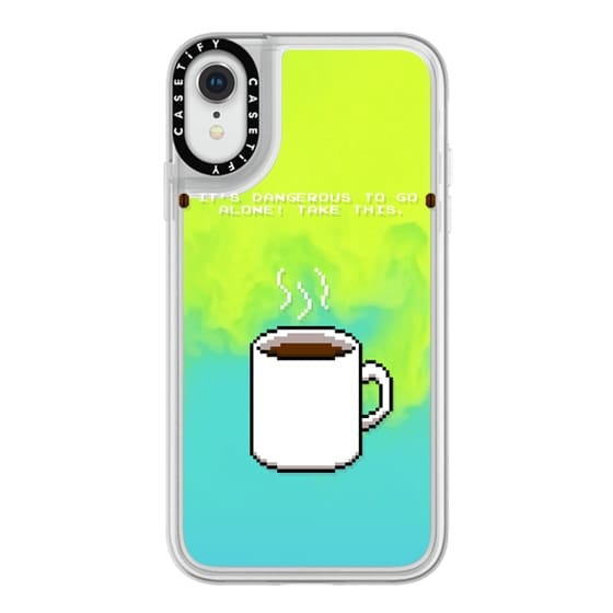 iPhone XR Cases - Soft Its dangerous to go alone Take this coffee