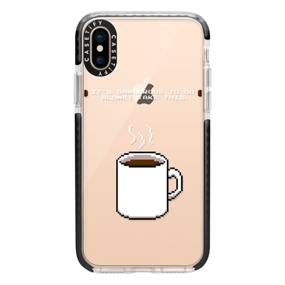 iPhone XS Cases - Soft Its dangerous to go alone Take this coffee