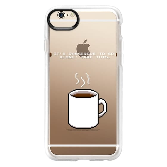 iPhone 6 Cases - Soft Its dangerous to go alone Take this coffee
