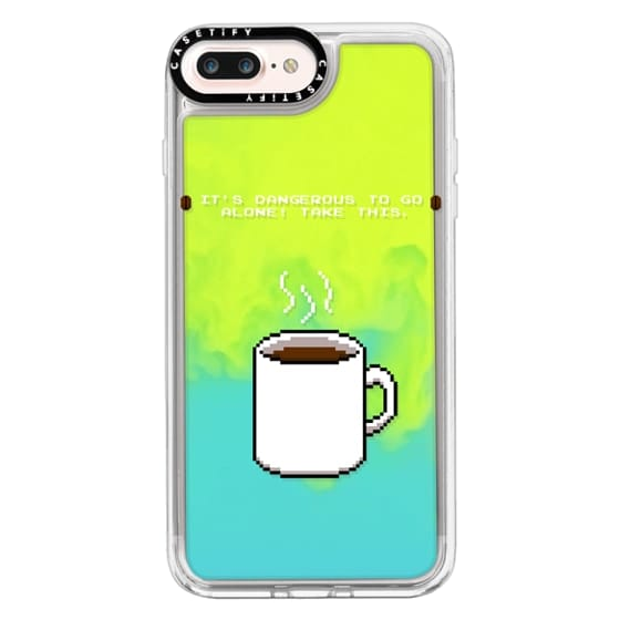 iPhone 7 Plus Cases - Soft Its dangerous to go alone Take this coffee