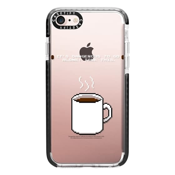 iPhone 7 Cases - Soft Its dangerous to go alone Take this coffee