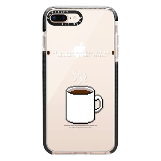 iPhone 8 Plus Cases - Soft Its dangerous to go alone Take this coffee