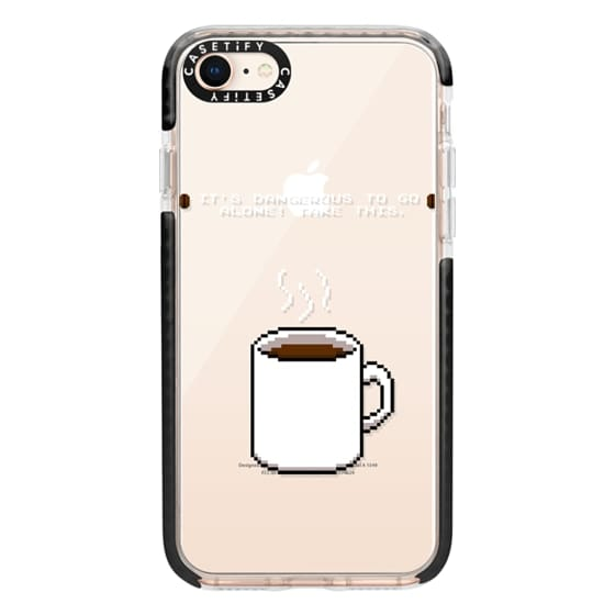 iPhone 8 Cases - Soft Its dangerous to go alone Take this coffee