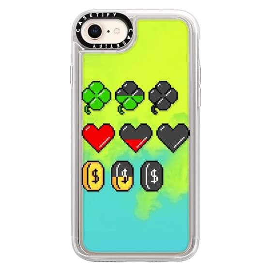 iPhone 8 Cases - Soft Video Game Stats