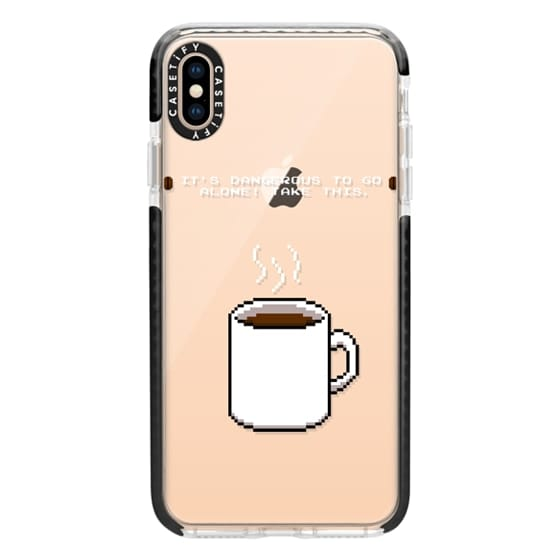iPhone XS Max Cases - Soft Its dangerous to go alone Take this coffee
