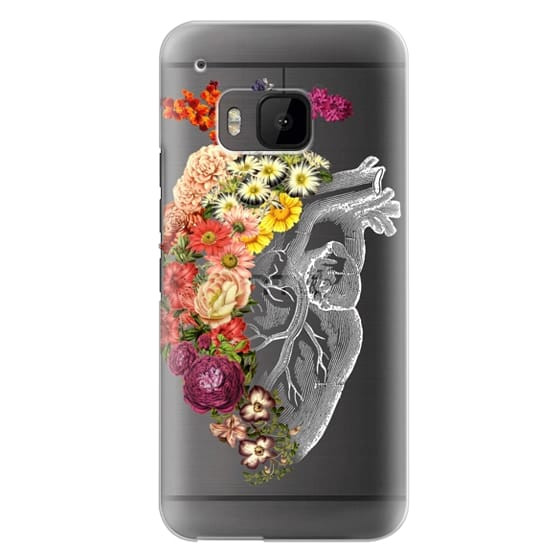 Htc One M9 Cases - Soft Flower Heart Spring