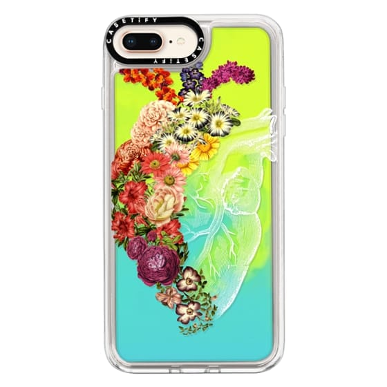 iPhone 8 Plus Cases - Soft Flower Heart Spring