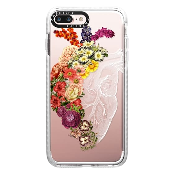 iPhone 7 Plus Cases - Soft Flower Heart Spring