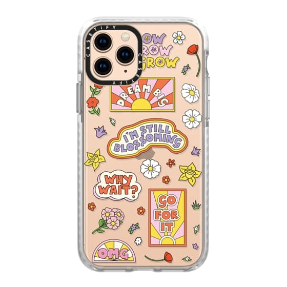 iPhone 11 Pro Cases - I'm Still Blossoming Clear by Martina Martian