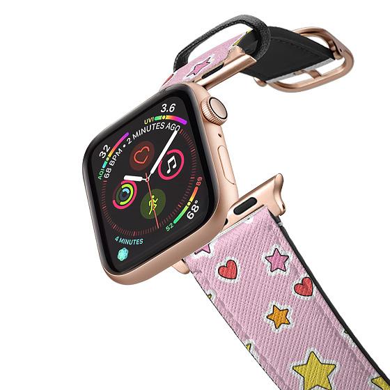 CASETiFY Apple Watch Band (38mm/40mm) Saffiano Leather Watchband V4 - Positivity Stars Apple Watch B