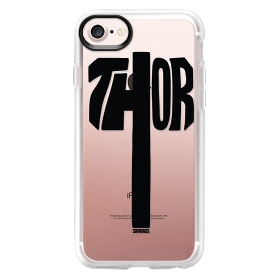 detailed look eaa8f db435 Classic Grip iPhone 7 Case - Thor Hammer (Black)