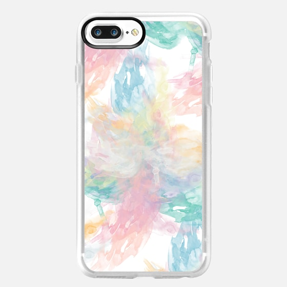 Abstract Girly Pastel Watercolor Splatters Pattern - Classic Grip Case