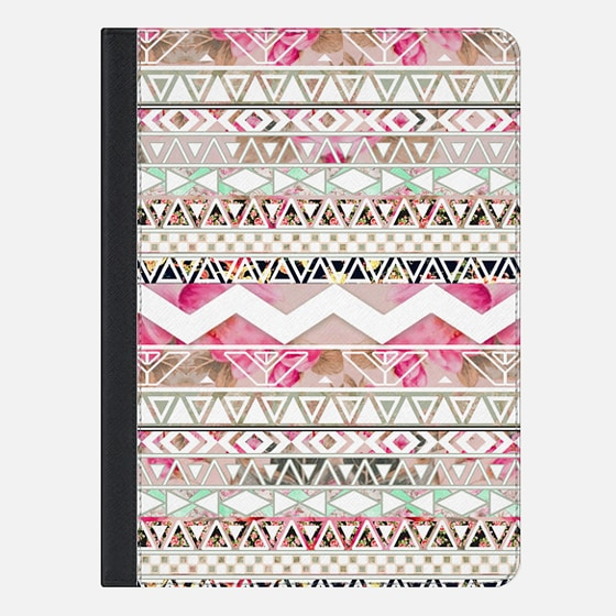Girly Pink White Floral Abstract Aztec Pattern Ipad Mini