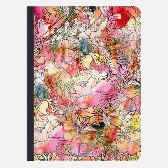 Colorful Watercolor Floral Pattern Abstract Sketch Ipad Mini