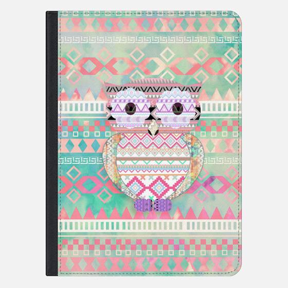 Whimsical Tribal Owl Pastel Girly Tie Dye Aztec Ipad Mini