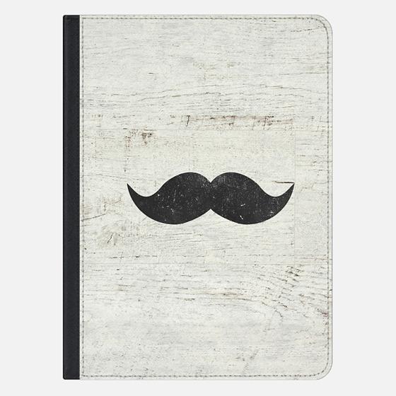 Vintage Funny Mustache White Retro Wood Ipad Mini