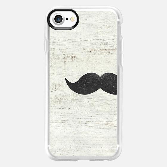 Vintage Funny Mustache White Retro Wood Ipad Mini -