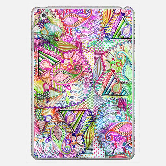 Abstract Girly Neon Rainbow Paisley Sketch Pattern Ipad Mini - 포토 커버