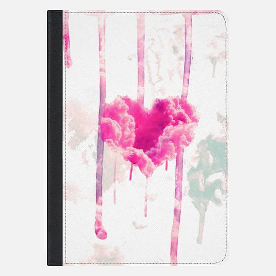 Modern Pink Cloud Love Heart Pink Watercolor Drips Ipad Mini