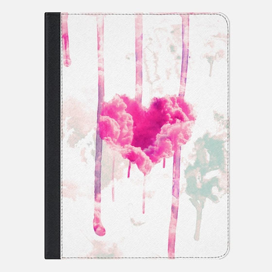 Modern Pink Cloud Love Heart Pink Watercolor Drips Ipad Mini