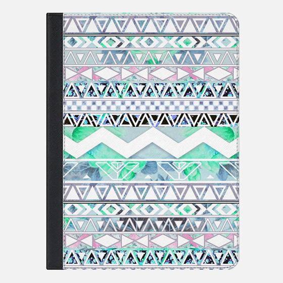 Blue Floral Geometric Aztec Pattern Ipad Mini