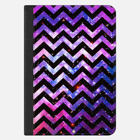Purple Nebula glitter Space Chevron Pattern Ipad mini