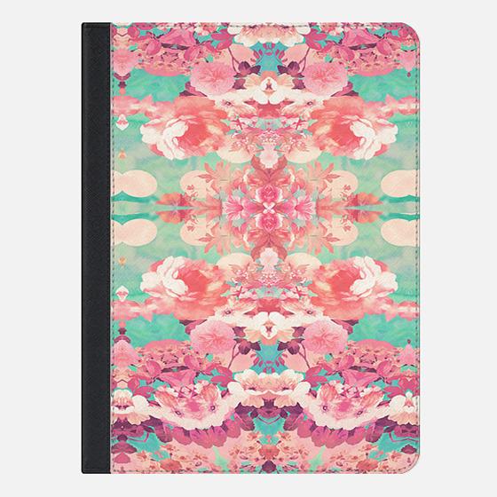 Pink Floral Teal Fashion Kaleidoscope Pattern Ipad Mini