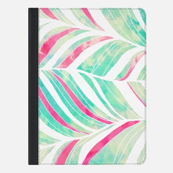 Pink Teal Watercolor abstract Zentangle chevron Feather tie dye Pattern ipad