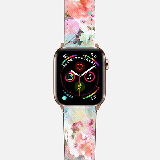 Romantic watercolor flowers pattern Apple watch