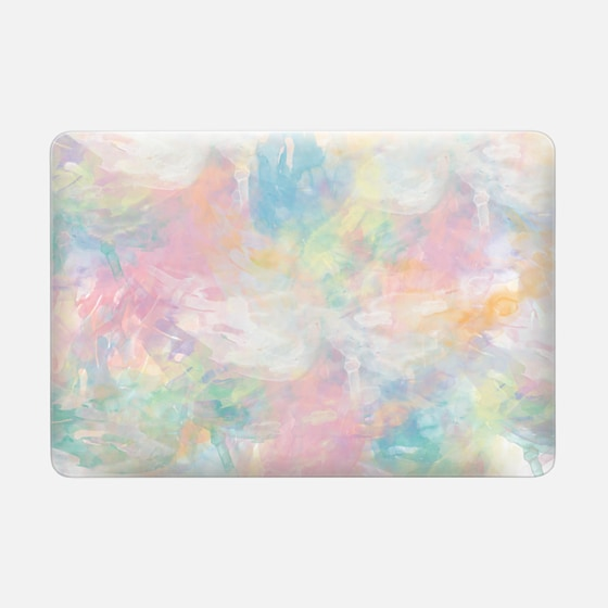 Abstract Girly Pastel Watercolor Splatters Pattern by Girly Trend