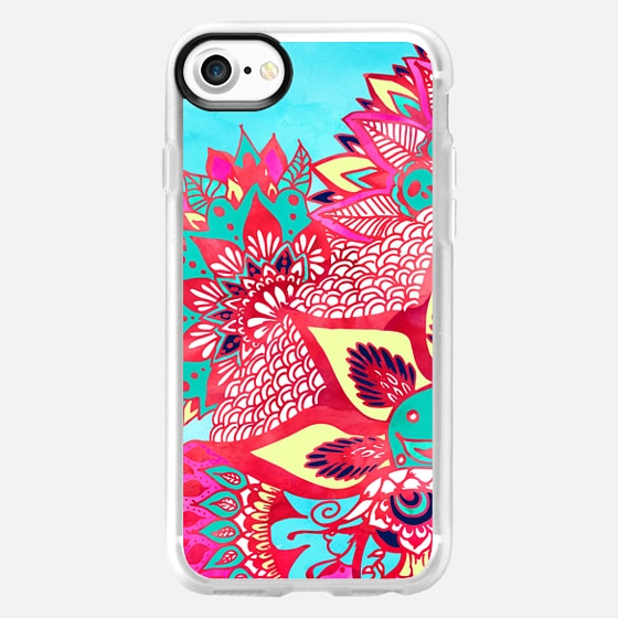 Bohemian boho red blue floral paisley pattern  by Girly Trend - Wallet Case