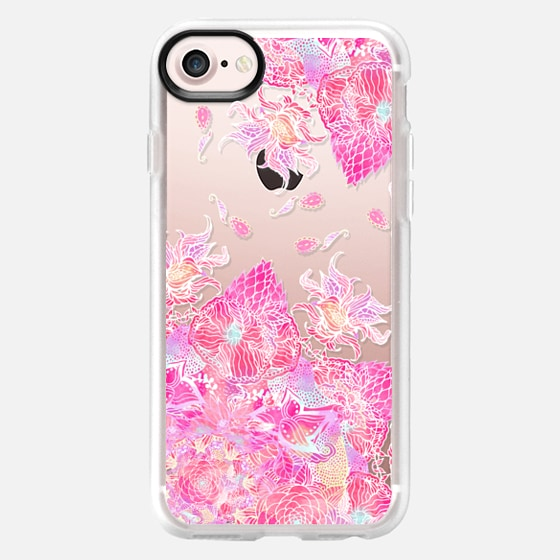 Pink watercolor boho bold floral henna mandala pattern by Girly Trend - Wallet Case
