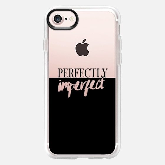 Perfectly imperfect typography modern black transparent color block - Wallet Case