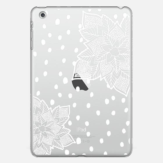 White polka dots snow floral mandala snowflake - Classic Snap Case
