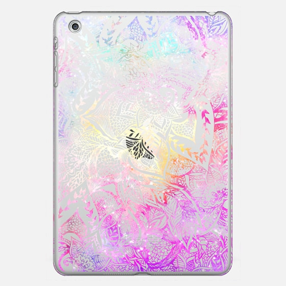Modern bright pink purple watercolor nebula floral lace illustration by Girly Trend - Classic Snap Case