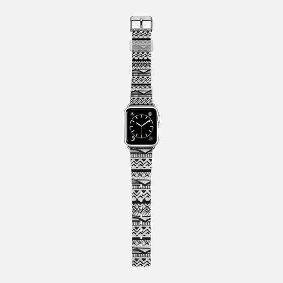 Semi transparent modern handdrawn aztec geometric pattern black by Girly Trend -