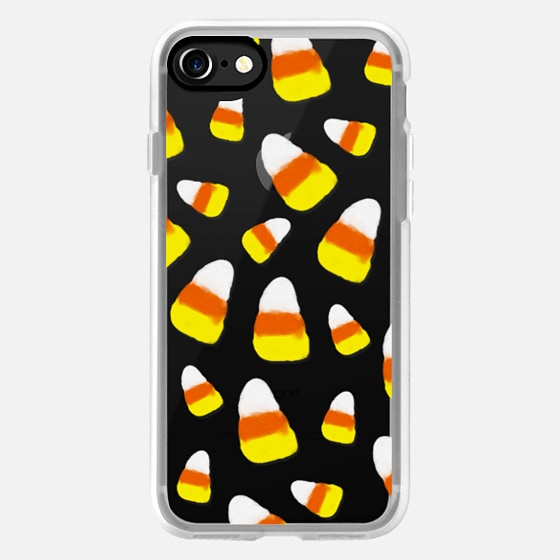 Halloween candy corn orange yellow white watercolor pattern by Girly Trend -