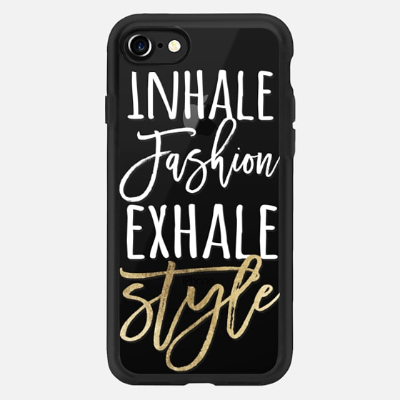 Modern fashion and style quote typography white faux gold foil -