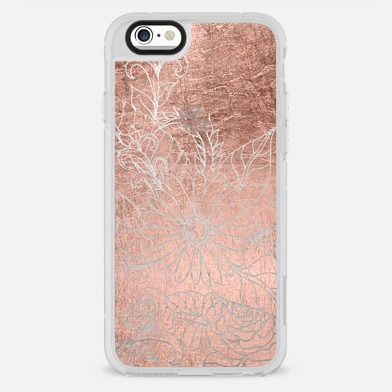 Modern rose gold floral cut out by Girly Trend - New Standard Case