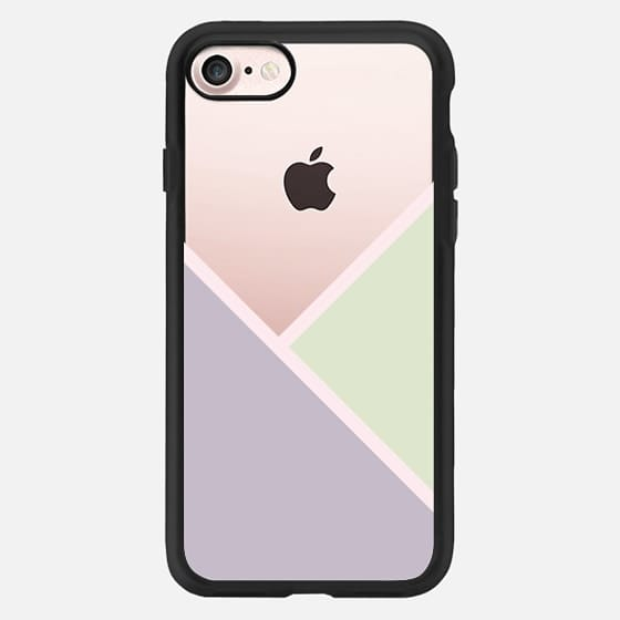 Modern pastel lavender purple blush pink green color block by Girly Trend -