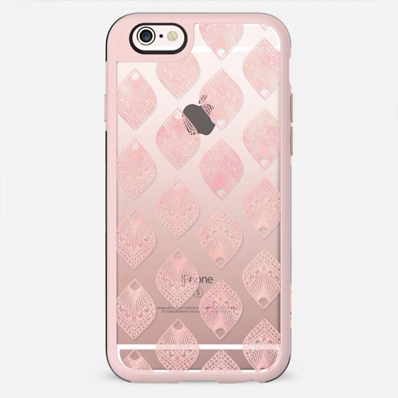 Modern pink watercolor leaf mandala illustration pattern by Girly Trend - New Standard Case